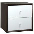 【藝匠】魔術方塊胡桃色小雙抽櫃收納櫃 家具 組合櫃 廚具 收藏 置物櫃 櫃子 小櫃子