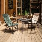 【KAZMI 韓國 KZM 軍事風豪華休閒折疊椅《軍綠》】K20T1C022/露營椅/導演椅/摺疊椅/休閒椅