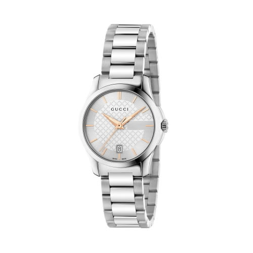 GUCCI G-TIMELESS摩登都會時尚設計石英女腕錶(半金/126523)