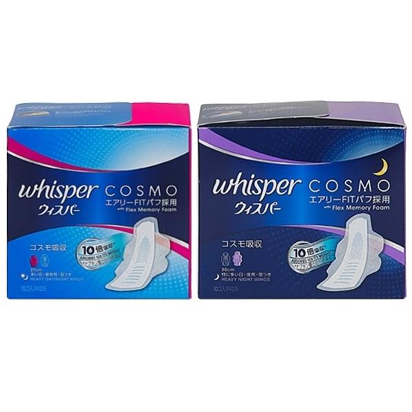 日本原裝 whisper 好自在 液體衛生棉(27cm/30cm)10片入 2款可選【小三美日】