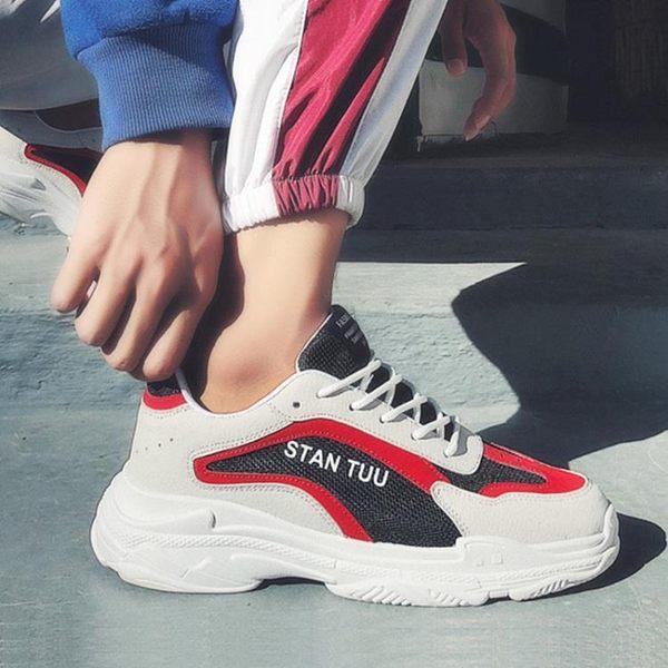 增高厚底鞋 男鞋子增高運動小白鞋老爹鞋男增高5cm