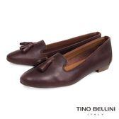 Tino Bellini 義大利進口小流蘇真皮樂福鞋 _ 深咖 TF4202D 歐洲進口款
