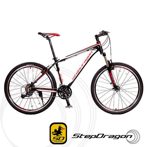 (送九大好禮)【StepDragon】Shimano 27速鋁合金登山車 SMA-270 V夾版