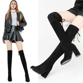 膝上靴 過膝靴女秋冬季高跟長靴百搭顯瘦性感高筒長筒靴彈力瘦腿靴子 降價兩天
