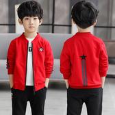 男童秋裝外套2019新款兒童春秋款夾克中大童裝男孩洋氣棒球服潮衣