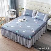 棉質床裙式床罩單件花邊床單全棉床套防滑床頭罩床蓋 JY8388【潘小丫女鞋】