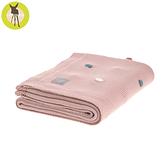 德國LASSIG-有機棉嬰兒毯-玫粉彩點
