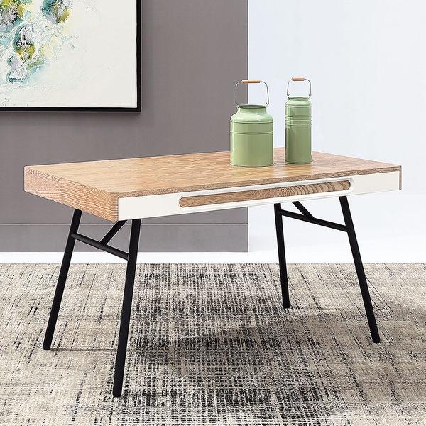 【森可家居】瑞奇4.5尺餐桌(不含椅) 7JX225-1