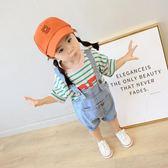 女童韓版女寶寶牛仔背帶褲子1-2歲3幼兒衣服夏休閒小童裝艾維朵