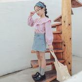 女童半身裙2019春季新款寶寶牛仔韓版洋氣休閒半身裙 QW3876『夢幻家居』
