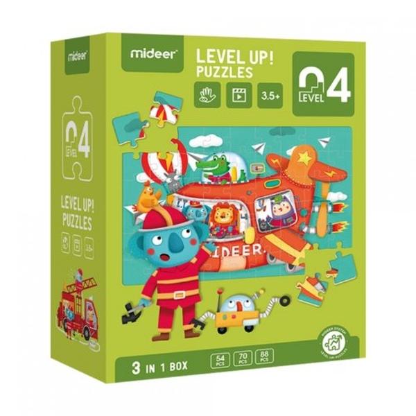 《 MiDeer 》進階式拼圖-交通(LEVEL 4) / JOYBUS玩具百貨