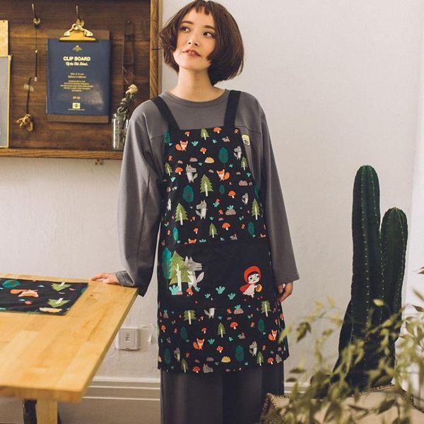 聖誕交換禮物-卡通日式全棉布藝圍裙廚房