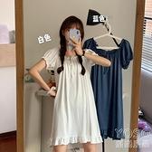 冰絲睡衣 新款甜美可愛日系很仙的睡裙女夏季薄款冰絲睡衣ins風 618大促銷