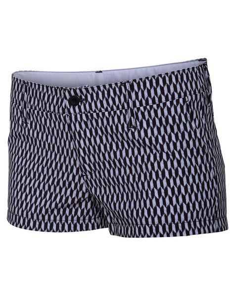 Hurley 女生Phantom海灘褲 - 黑白印紋