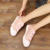 兒童帆布鞋11女童松緊帶休閒鞋跑步鞋子 ZL773『黑色妹妹』