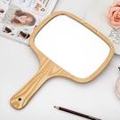 高清手拿木質公主手柄鏡子 便攜美容化妝鏡可懸掛手持梳妝鏡大號