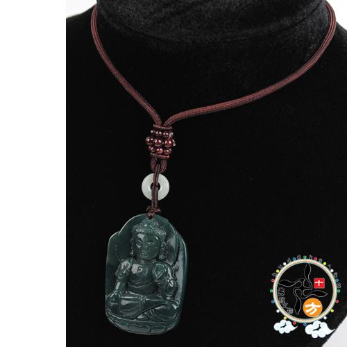 佛陀(七彩玉)項鍊 C【十方佛教文物】