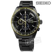 SEIKO 精工 / V176-0AZ0SD.SSC729P1 / 太陽能 藍寶石水晶 防水100米 不鏽鋼手錶 黑x鍍深灰 43mm