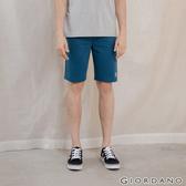 【GIORDANO】男裝棉質抽繩短褲 - 36 雪花深藍