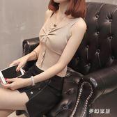 內搭衣 秋冬新款韓版時尚修身冰絲針織打底衫內搭吊帶背心女 FR1975『夢幻家居』