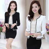新款韓版女裝長袖短外套女小香風女士OL名媛氣質西裝外套 LR3066【VIKI菈菈】