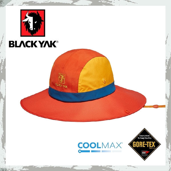 【BLACKYAK 韓國 女 GORE-TEX撞色圓盤帽《橘》】BY161WAH0114/大盤帽/遮陽帽/牛仔帽