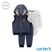 【美國 carter s】 森林小熊背心3件組套裝