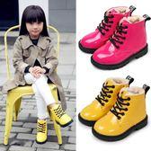 女童鞋冬女童短靴兒童馬丁靴加絨加厚保暖靴子秋冬款棉鞋低筒靴 雲雨尚品
