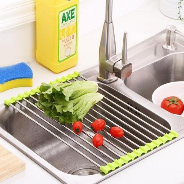 可摺疊水槽瀝水架 瀝水網 水槽架 摺疊 瀝水架 收納架 置物架 碗碟架 洗碗架 洗碗槽 水槽【RS1246】