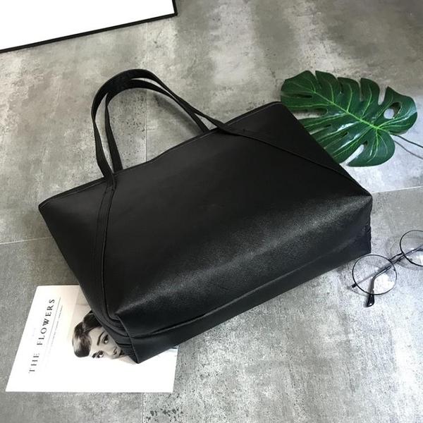 新款潮托特包學生簡約百搭大容量韓版休閒側背手提包 黛尼時尚精品