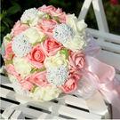 韓式結婚婚禮仿真30朵手捧花送胸花Eb7219『小美日記』