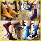 MG 堆堆襪-中筒襪韓版學院風堆堆襪薄款長襪
