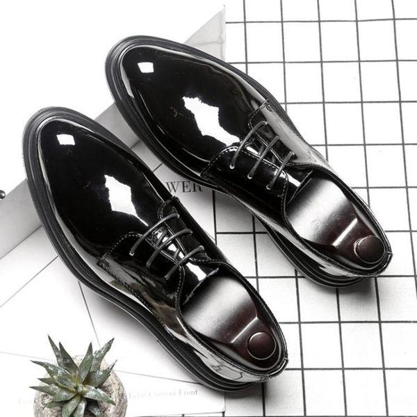 尖頭休閒皮鞋 布洛克雕花商務鞋【五巷六號】x246