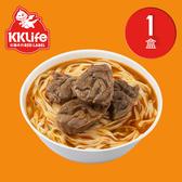 【KK Life-紅龍免運組】紅燒腱心牛肉麵1盒(牛肉湯600g*2包; 麵220g*2包)
