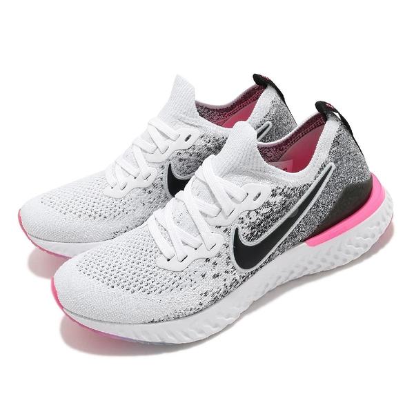 【五折特賣】Nike 慢跑鞋 Wmns Epic React Flyknit 2 白 黑 女鞋 運動鞋 【ACS】 BQ8927-103