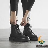 真皮小短靴單靴內增高馬丁靴女【創世紀生活館】