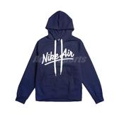 Nike 長袖T恤 NSW Air Hoodie 藍 白 男款 帽T 運動休閒 【PUMP306】 BV5182-492