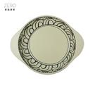 普普風雙耳陶瓷義大利麵盤 湯盤 深盤 26.8cm