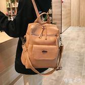 後背包•雙肩包女2019新款韓版百搭時尚軟皮大容量背挎兩用女士背包CC4143『毛菇小象』