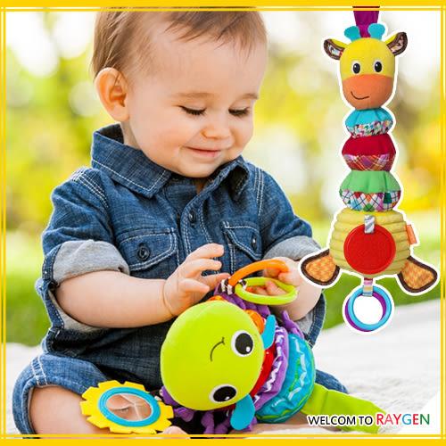 玩具 長頸鹿毛毛蟲拉鈴多功能牙膠 寶寶車床掛