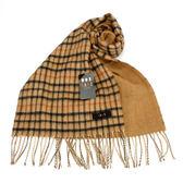DAKS經典格紋羊毛圍巾(駝色)239326