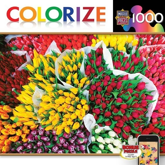 【KANGA GAMES】拼圖 鬱金香 Colorize - Totally Tulips 1000片