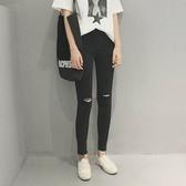 割破顯瘦緊身鉛筆長褲牛仔褲【KLA36】 ENTER