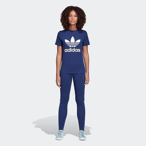 ADIDAS ORIGINALS LEGGINGS 藍白 內搭褲 緊身褲 女(布魯克林)2019/04月 DV2634