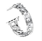 [替換錶帶] Apple Watch 單排牛仔鏈表帶蘋果手表1 2 3 4 5 6代金屬腕帶鑲鑽帶