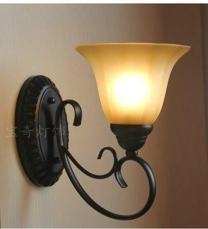 設計師美術精品館美式鄉村壁燈 鐵藝複古燈臥室床頭燈過道陽台燈歐式燈BQB-2