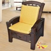 【凱蕾絲帝】木椅通-高支撐加厚連體L型坐墊(富貴金6入)