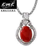 【KMK天然寶石】女神-維納斯(純天然深海紅/粉珊瑚-項鍊)