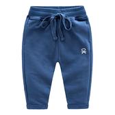 男Baby男童純棉長褲淺藍色OK薄款休閒褲運動褲現貨 歐美品質