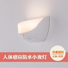 小夜燈 LED小夜燈智慧人體感應燈USB充電光控壁燈樓道過道地腳墻角燈防水